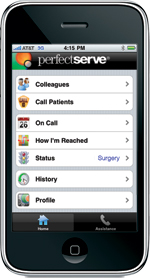 PerfectServe Clinician iPhone App