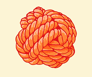 Detail of Orange Monkey Knot
