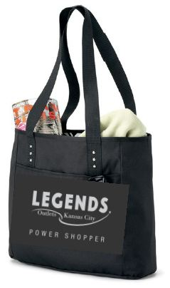 Shoppers spending $100 or more on combined Legends Outlets purchases from 5:00 - 9:00 a.m. on November 23 will receive a Legends Outlets Black Friday Power Shopper Kit that includes a reversible shopping bag filled with goodies