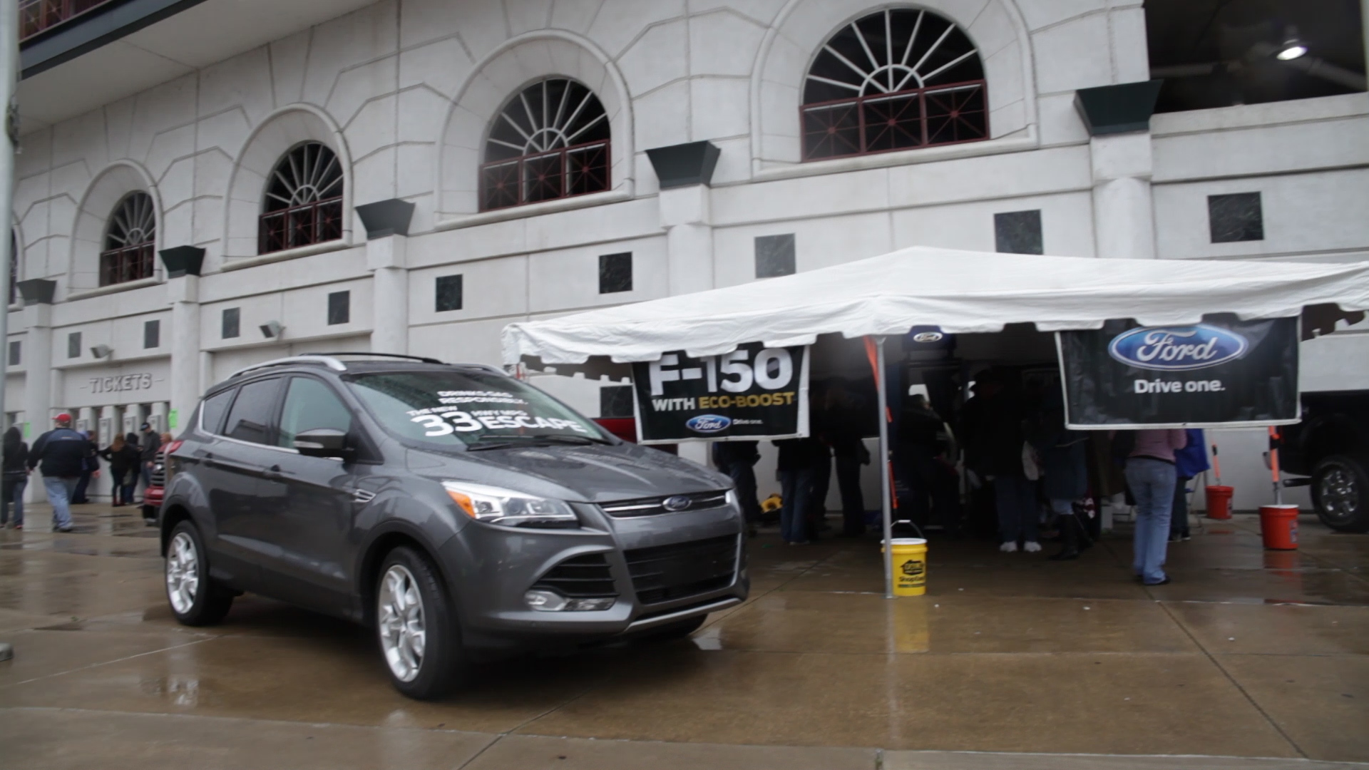 Ford tent in the concert plaza featured a free photobooth, prize wheel, Ford swag and an up-close look at the all-new 2013 Ford Escape