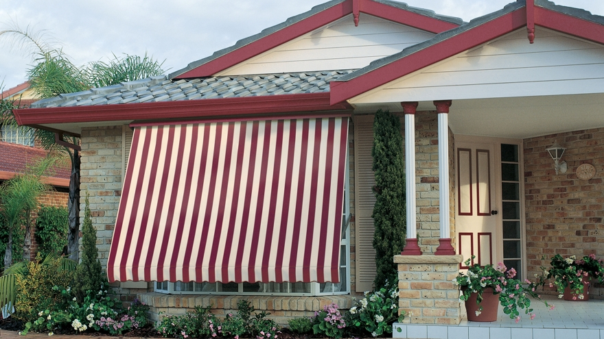 Exterior Awnings: You can select from auto, spring roller, rope & pulley and crank operated styles ~ all of which provide wonderfully practical and reliable operation.