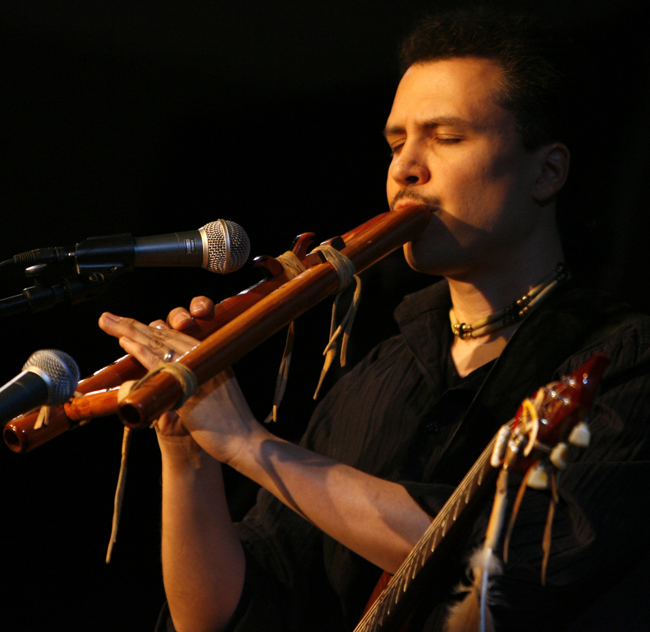 Wade Fernandez, Sr. of Keshena is a member of the Menominee Nation. He is an internationally recognized musician who taught the Native flute to apprentices at the Menominee Tribal School.