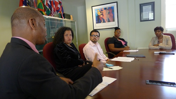 Representative Clarke meets with a Campaign for Prison Phone Justice delegation.
