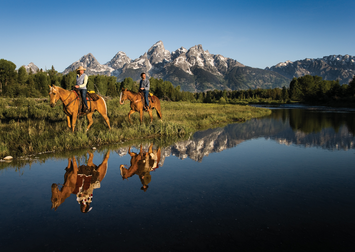 Horseback riding Grand Teton NP
