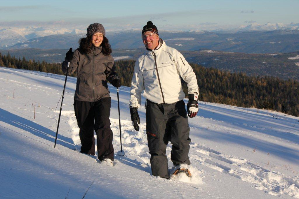 Discover Silver Star's 16 kilometres of marked snowshoe trails. Credit: Silver Star Mountain Resort