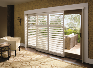 Palm BeachT polysatin shutters with the DuraLuxT finish from Hunter Douglas