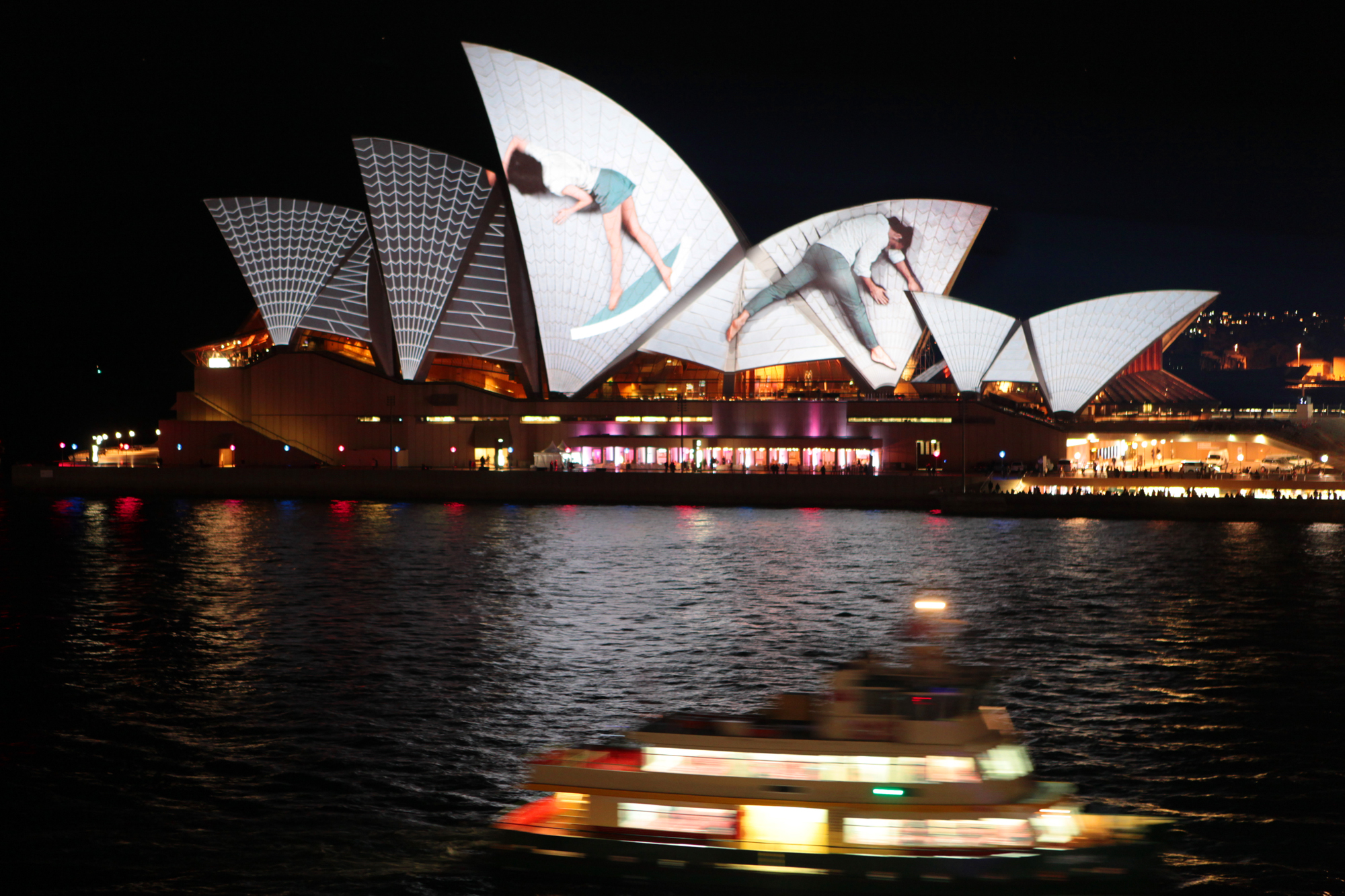 Sydney Opera House Lighting the Sails