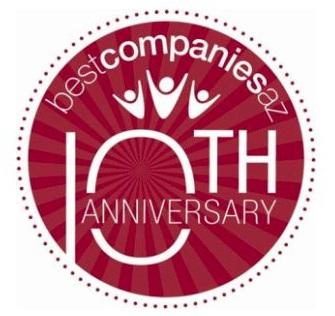 BestCompaniesAZ celebrates 10 years of identifying, developing and promoting the Best Companies in Arizona. http://www.bestcompaniesaz.com