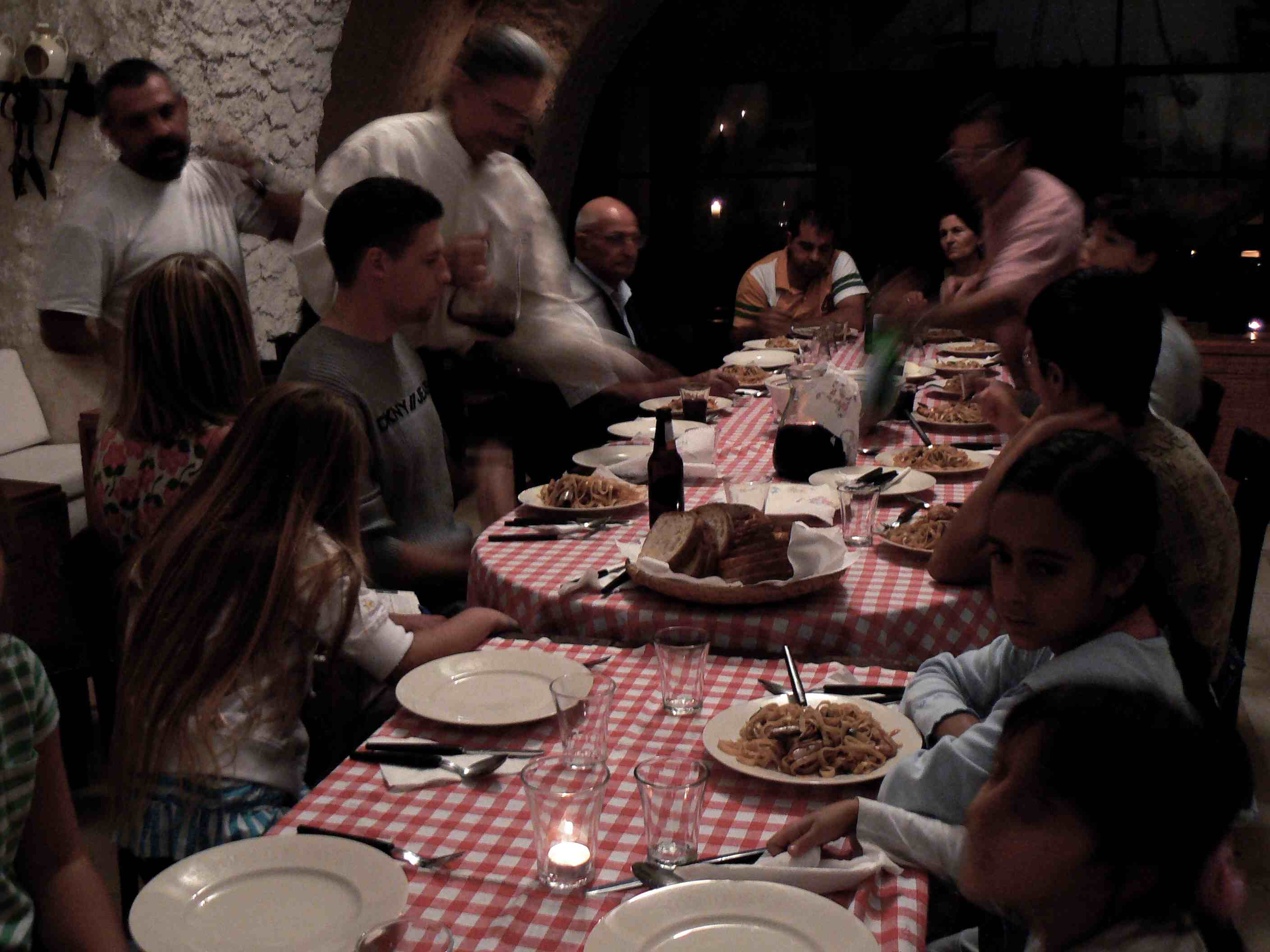 Dinner with friends and family, Italian style!
