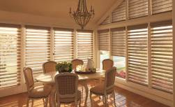 Hunter Douglas Silhouetter window shadings with the LiteRiser cordless lifting system. 