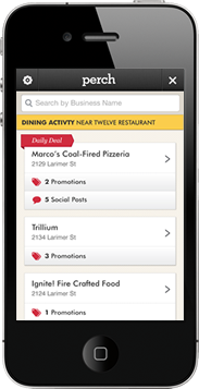 Quickly access a feed of the online activity of nearby businesses in your category.