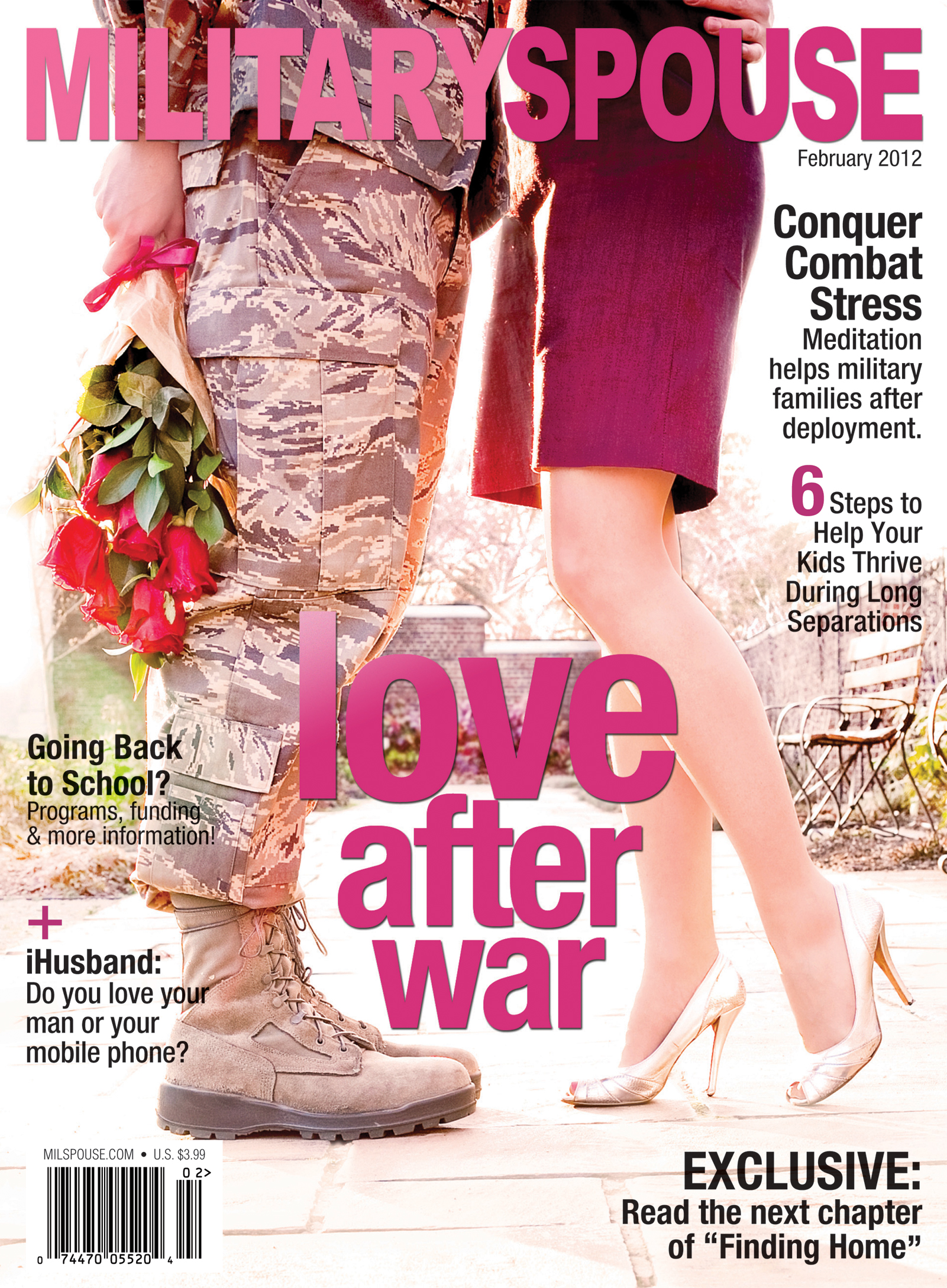 Cover - February 2012 issue Military Spouse magazine
