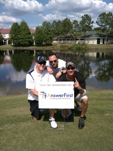 AnswerFirst Answering Service &amp; Call Center Solutions at the AIA Tampa Bay Tres De Mayo Golf Tournament on May 3, 2012.