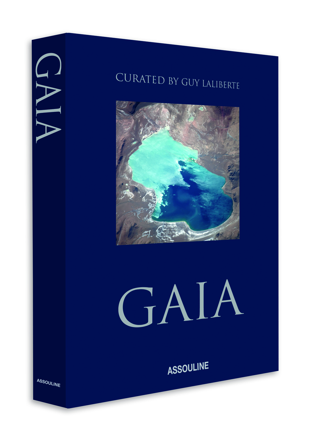 "Assouline reads the classic man's mind by offering three coffee-table style books including Gaia, Cigar Style and George Lois at MoMA: The Esquire Covers (Pictured: Gaia; Part of Crystals' ""Classic Man"" Package)"