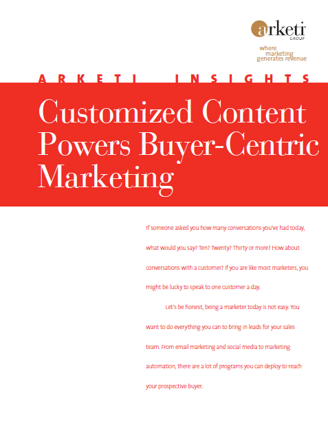 Customized Content Powers Buyer-Centric Marketing
