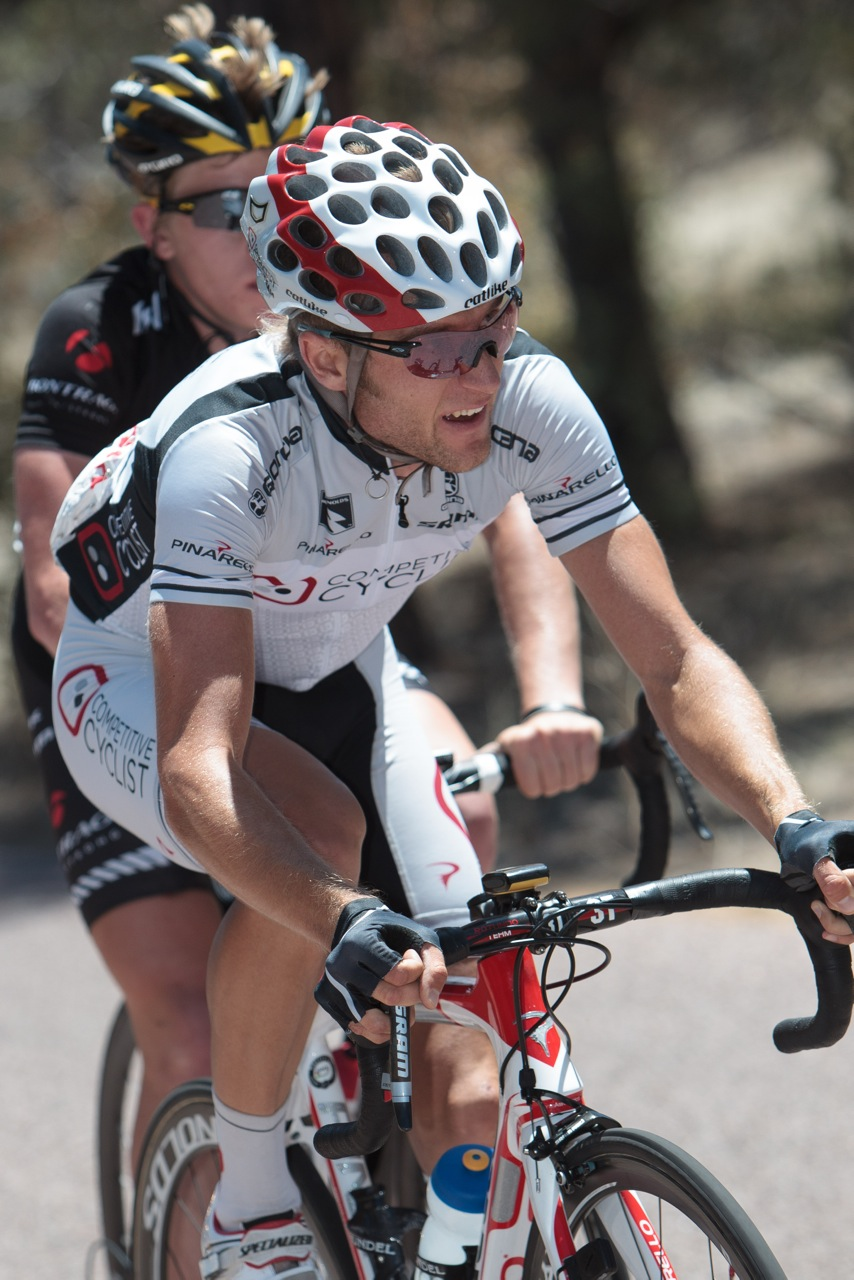 Chad Beyer during the SRAM Tour of the Gila. Photo Credit: On the Rivet Management.