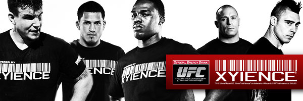 XYIENCE team athletes, Frank Mir, Anthony Pettis, Jon Jones, Matt Serra, Dan Hardy