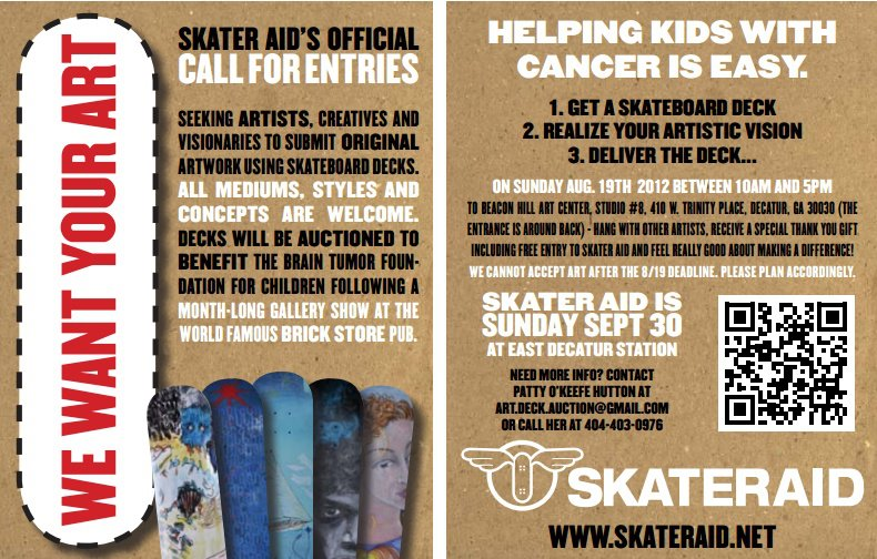 Skater Aid's Call for Artists