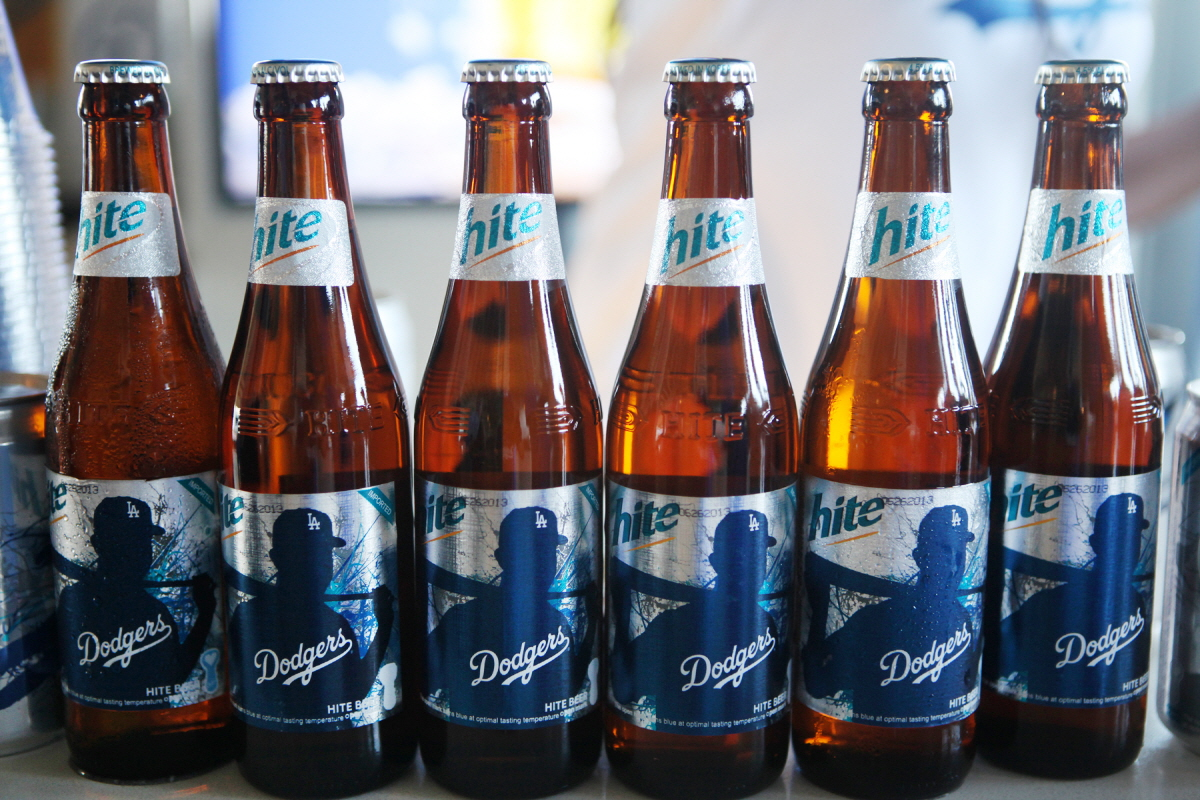 The new and exclusive 'Dodger Edition' Hite Beer!