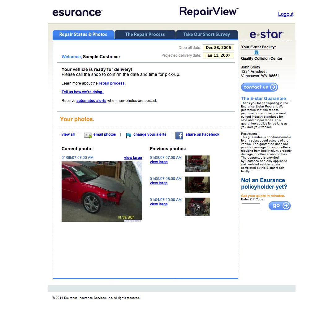 Esurance Quote Esurance Car Repair Monitoring App Integrates With Facebook