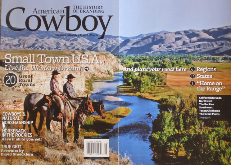 American cowboy magazine names dubois wy as one of the for Best rural places to live in california