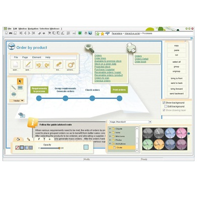 Sage ERP X3 visual processes screenshot