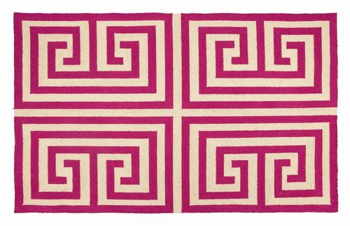 Trina Turk Greek Key Rug, approx. $165.