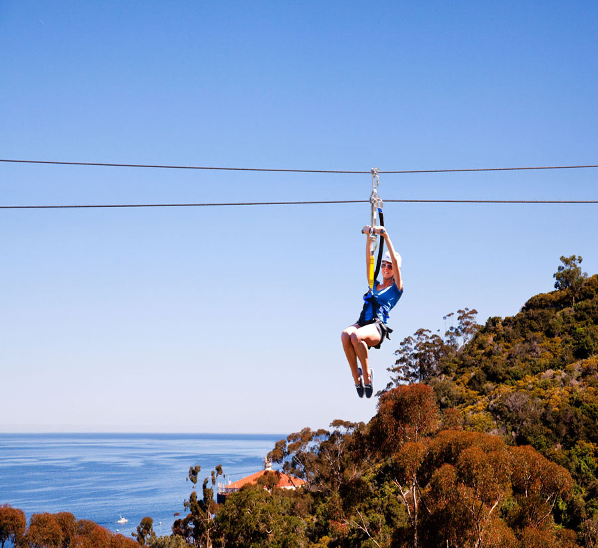 One of the zip lines on the Zip Line Eco Tour
