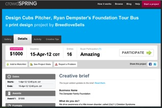 crowdSPRING Site Screen Grab