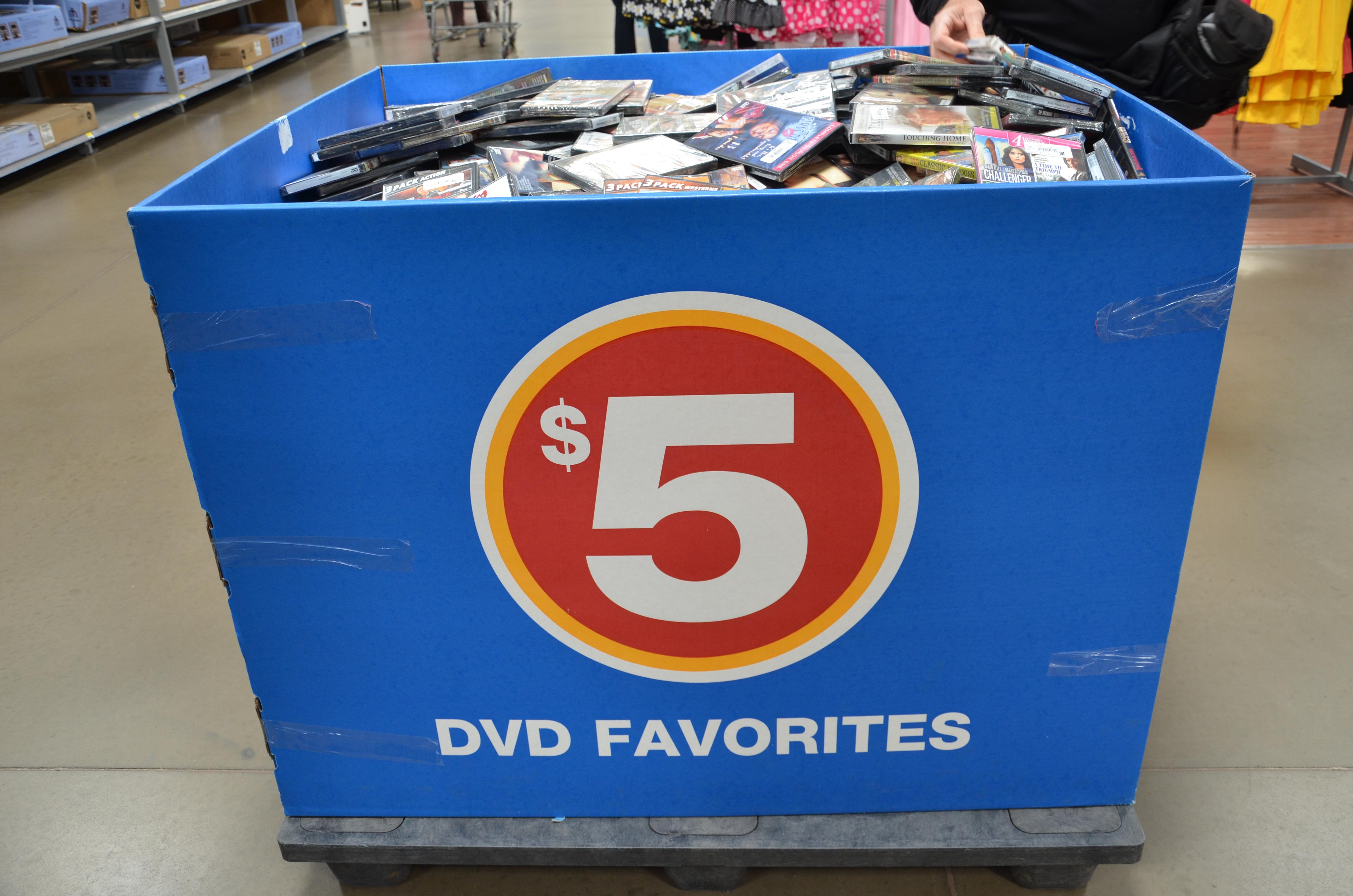 A bin full of TGG DVDs at the Wal-Mart in Somerdale, NJ.