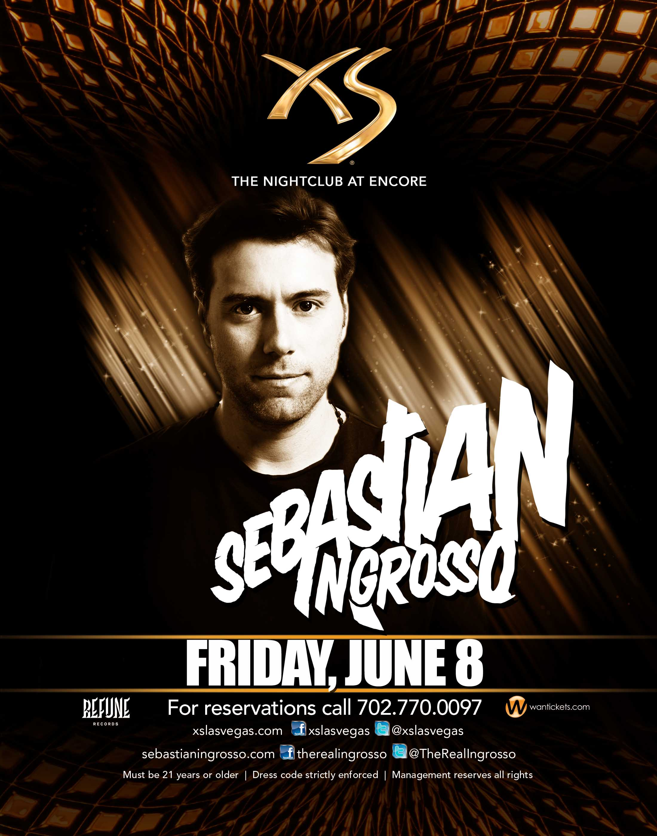 XS Nightclub presents Sebastian Ingrosso, June 8, 2012