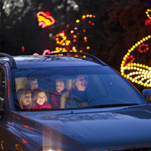 Drive- and walk-through light shows that provide a colorful backdrop to holiday events and activities in regions extending from Richmond to Virginia Beach. Credit: Virginia Tourism Corporation