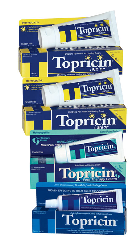 Topical BioMedics' line of Topricin pain relief products will be featured at Academy Awards Red Carpet Celebrity Style Lounge.