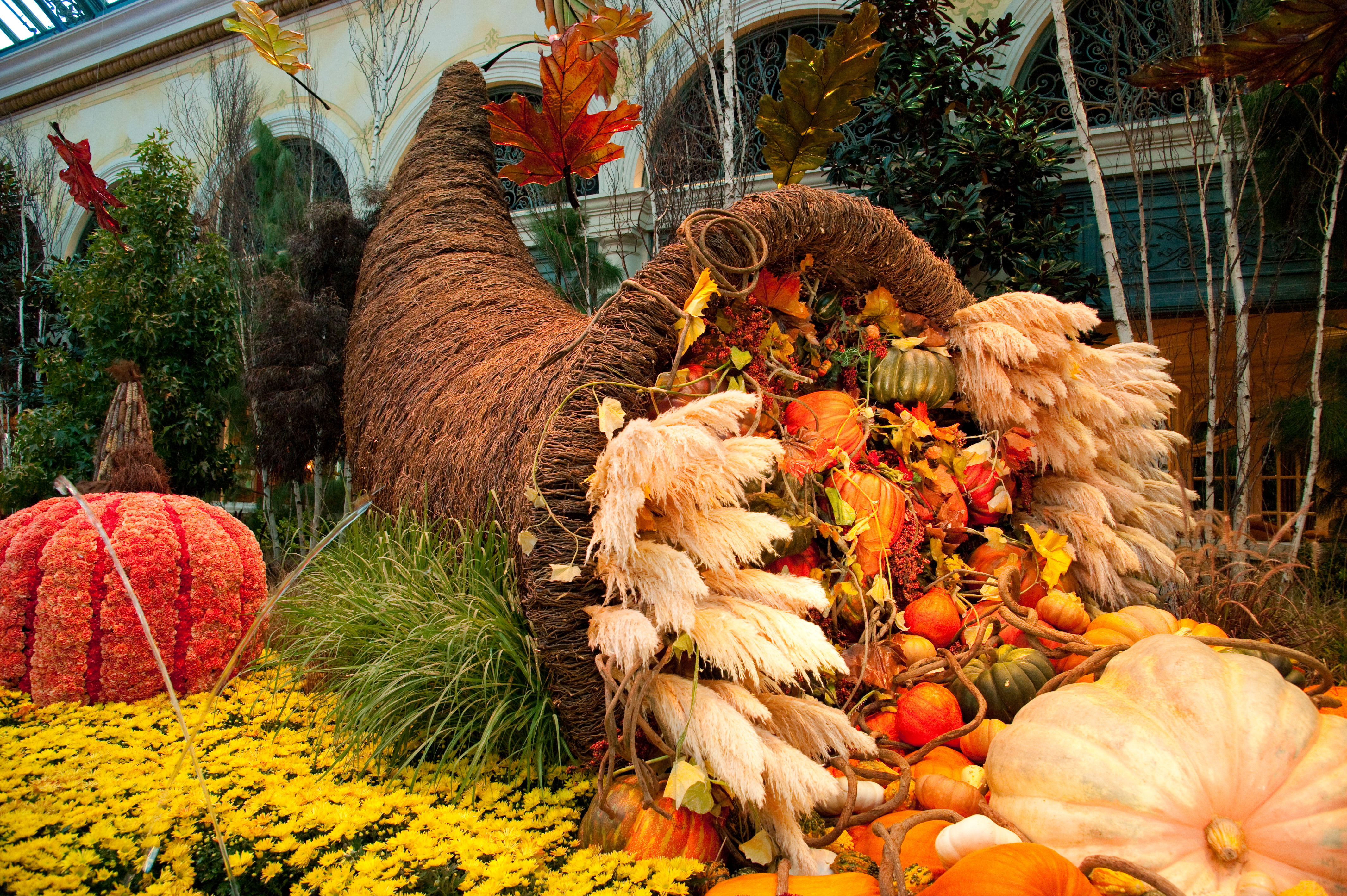 Captivating colors of autumn abound at bellagio 39 s conservatory botanical gardens - Fall landscaping ideas a mosaic of colors shapes and scents ...