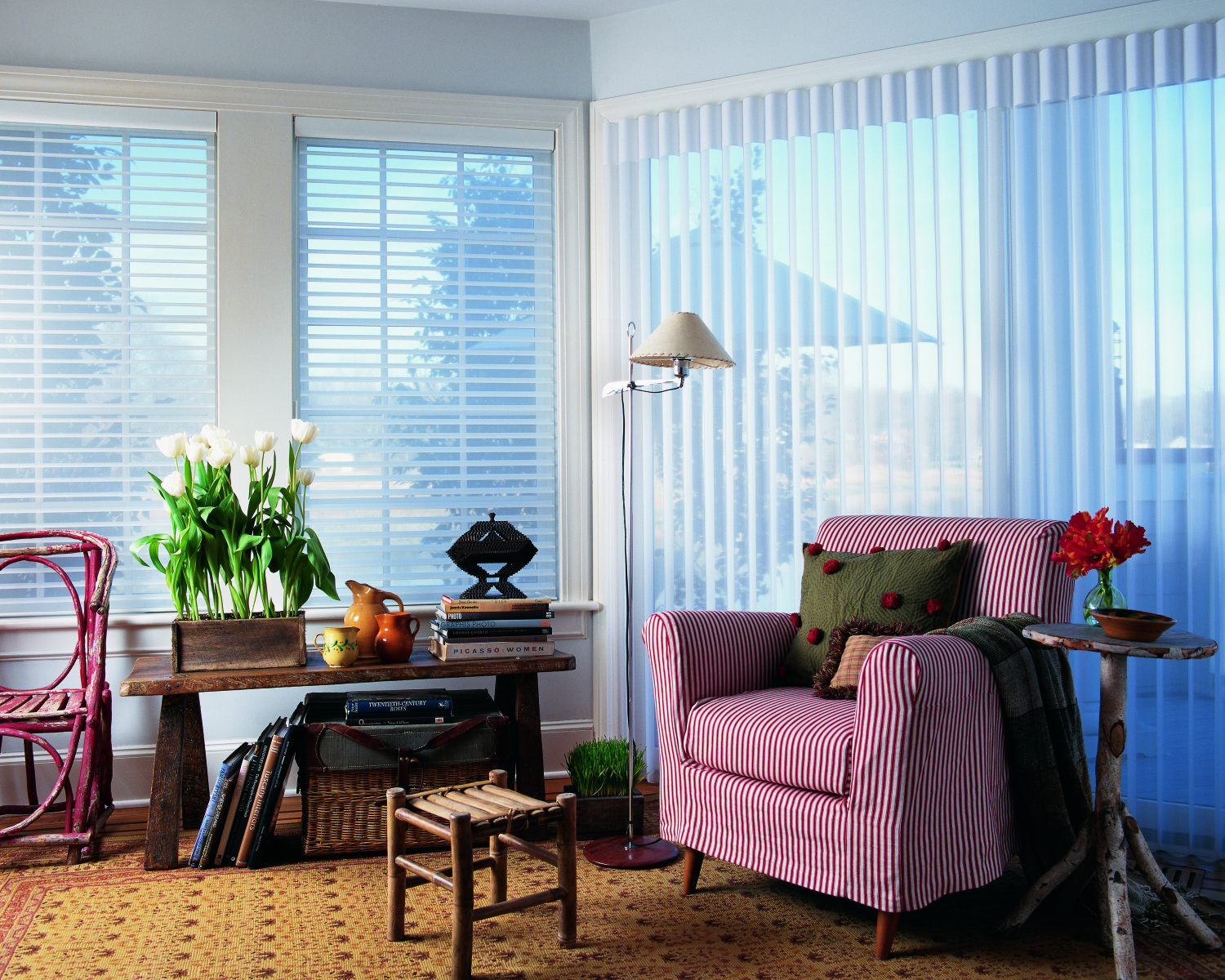 Silhouetter window shadings and Luminetter Privacy Sheers