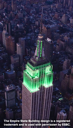 The Empire State Building design is a registered trademark and is used with permission by ESBC.