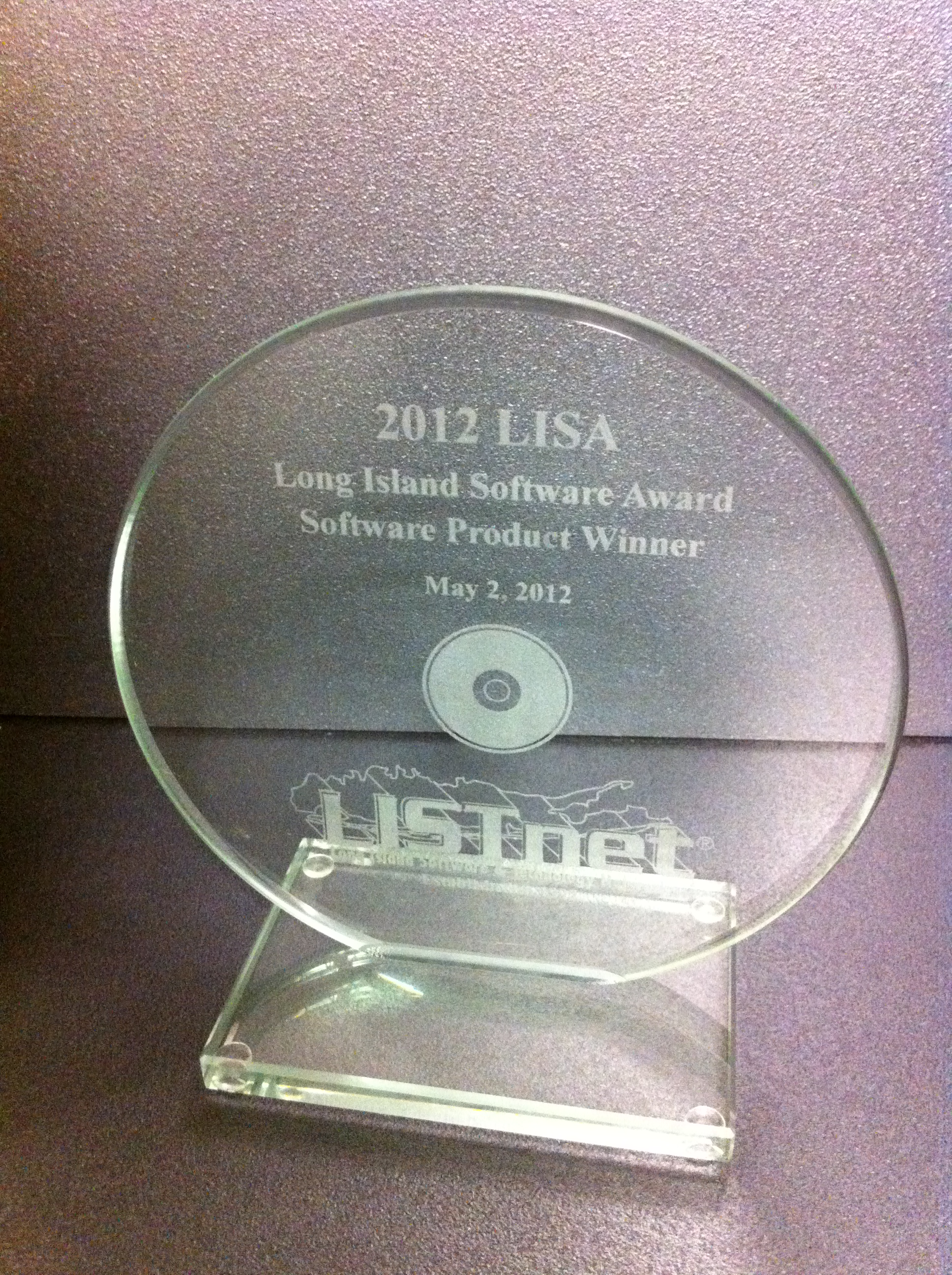 2012 Long Island Software Award