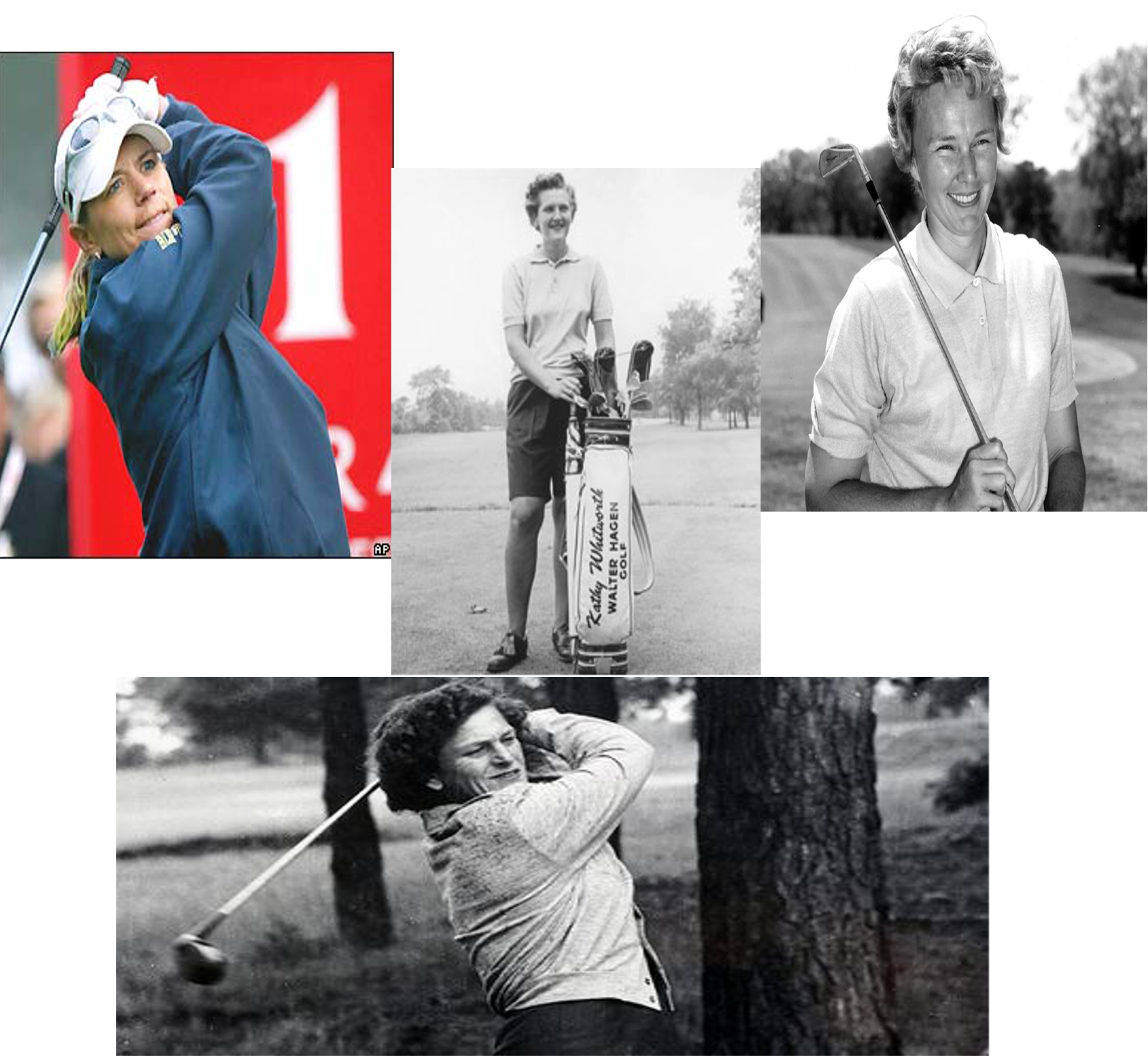 Annika Sorenstram, Kathy Whitworth, Mickey Wright and Babe Zaharias: Greatest Women Golfers