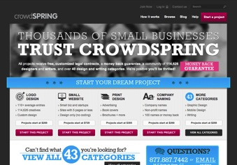 crowdSPRING Project Categories