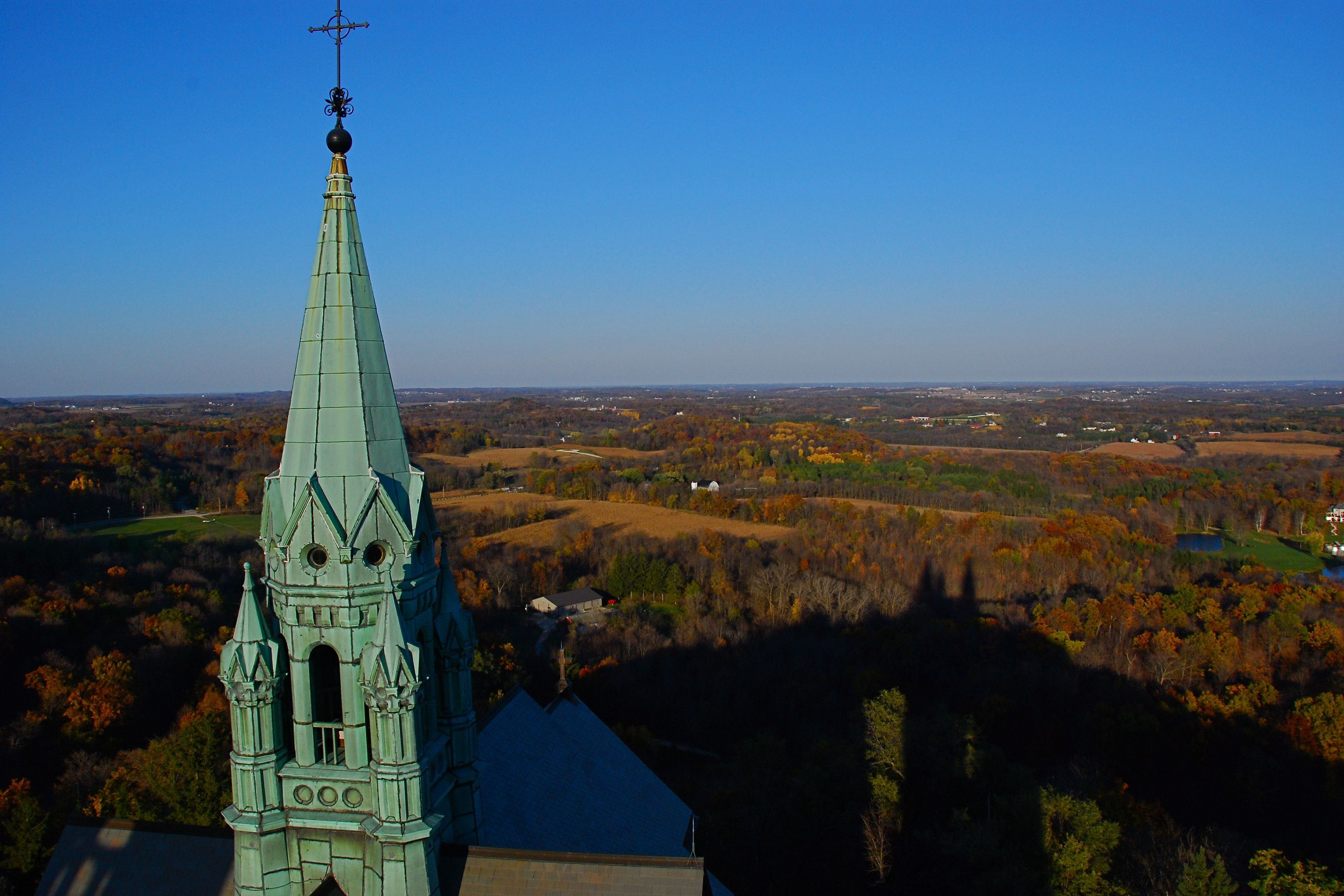 Holy Hill Steeple, photo courtesy of Donald S. Abrams