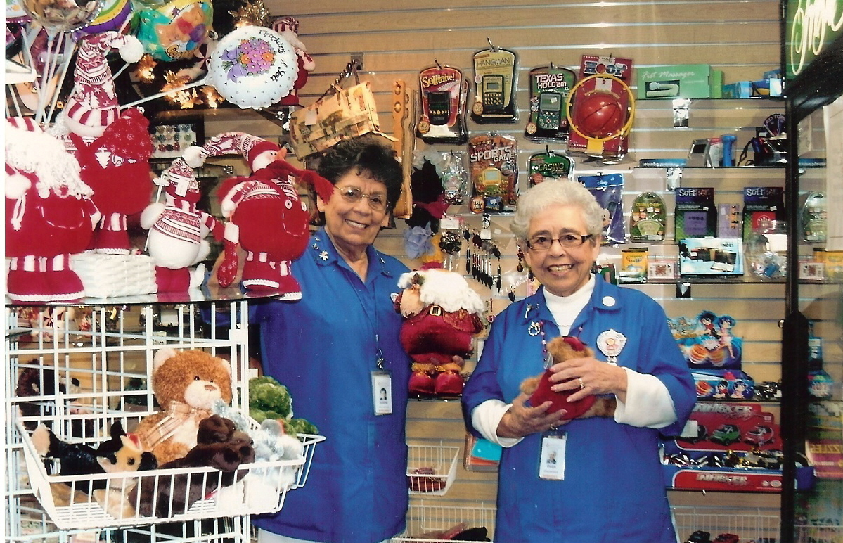 Auxiliary volunteers working at Gift Shop