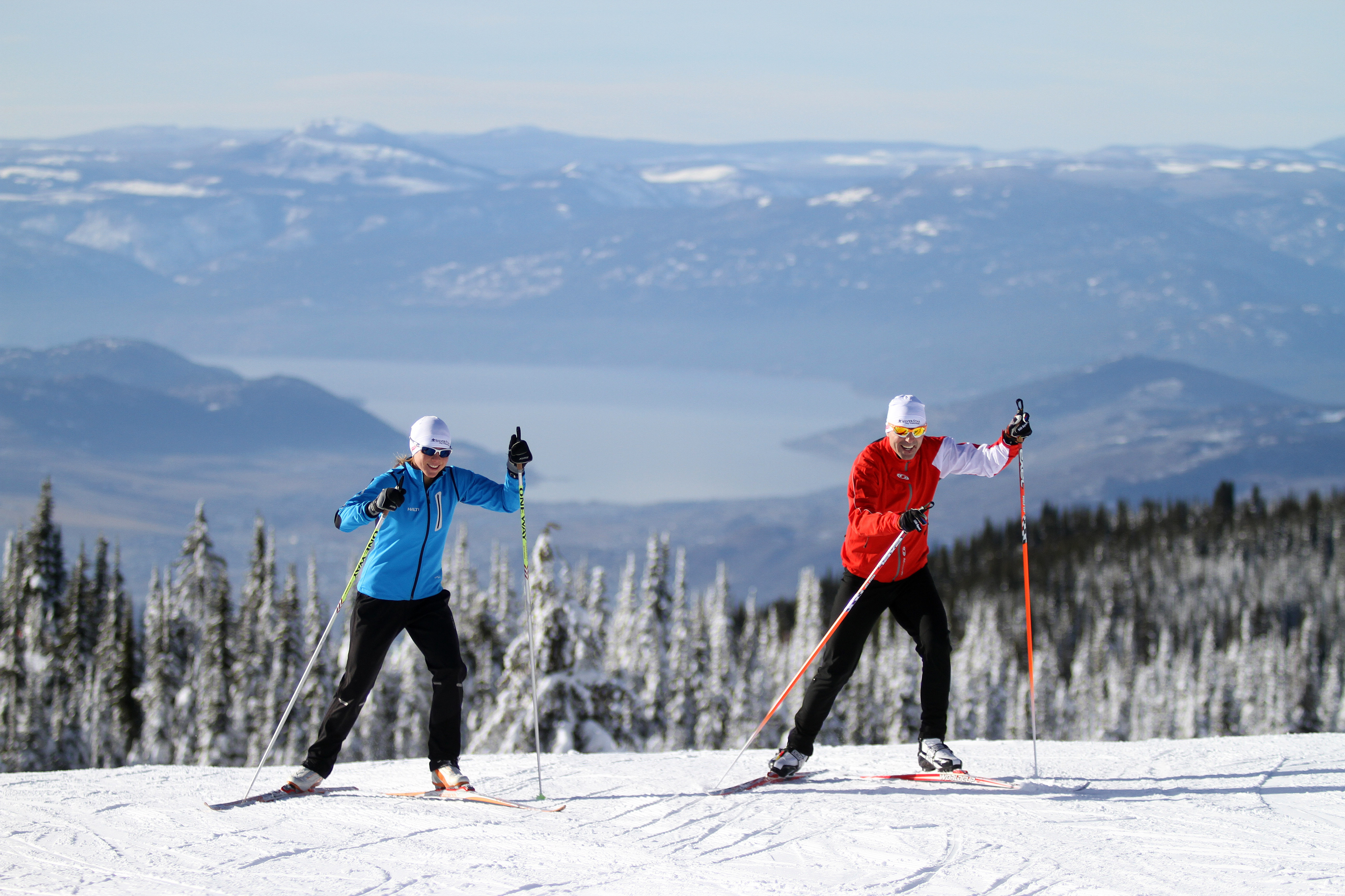 Experience and enjoy Silver Star's 55 kilometres of pristine Nordic trails. Credit: Silver Star Mountain Resort
