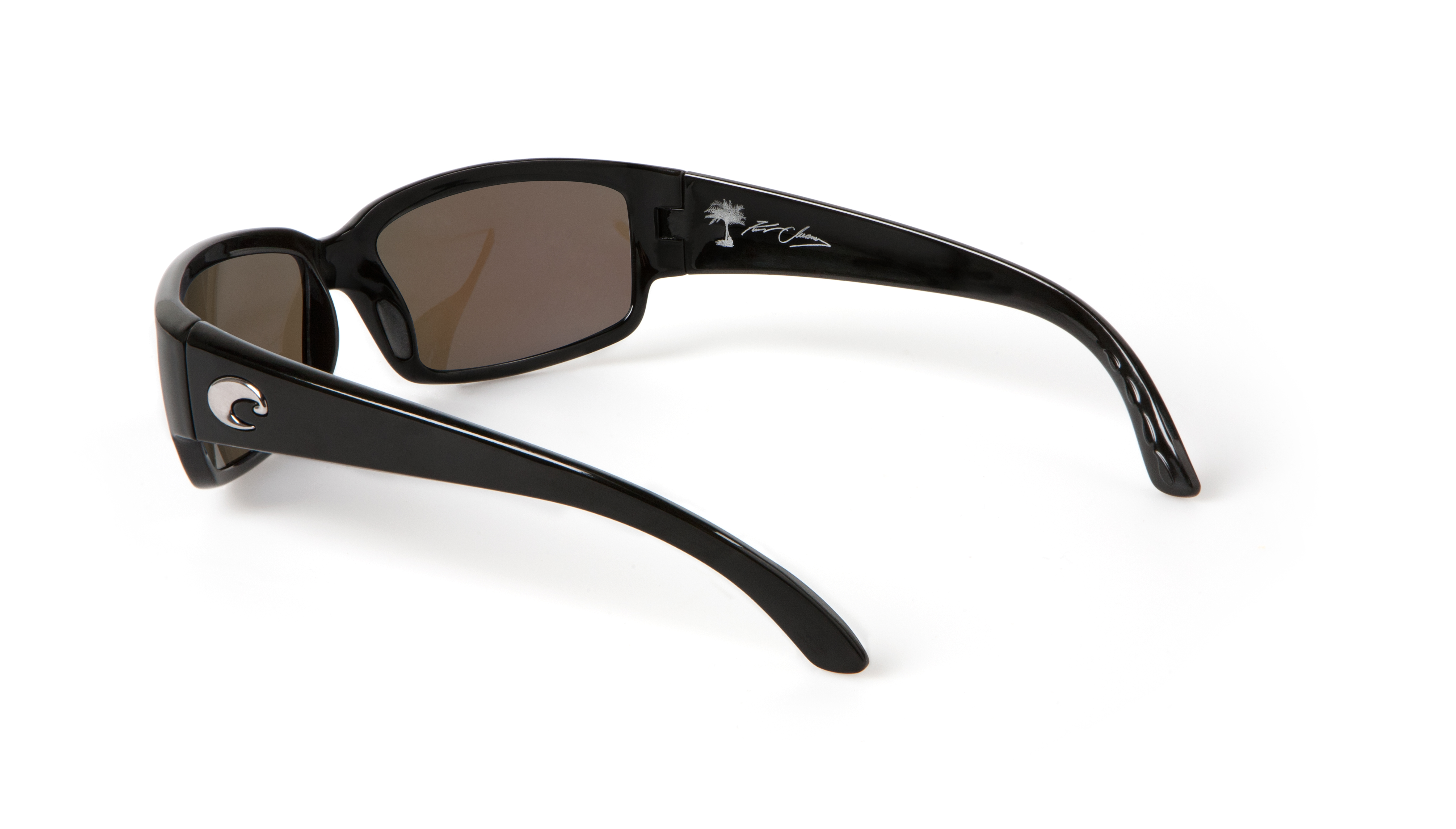 Kenny Chesney's new Limited Edition Costa style Caballito shown in black with blue mirror lenses starts at $129 and benefits the Coastal Conservation Association.