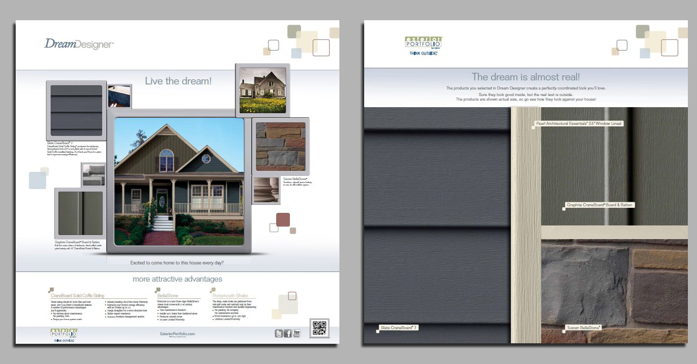 Exterior portfolior first building products company to Online visualizer