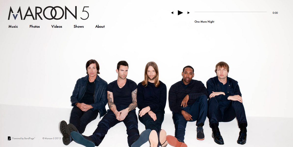 Maroon 5 - Website Extension