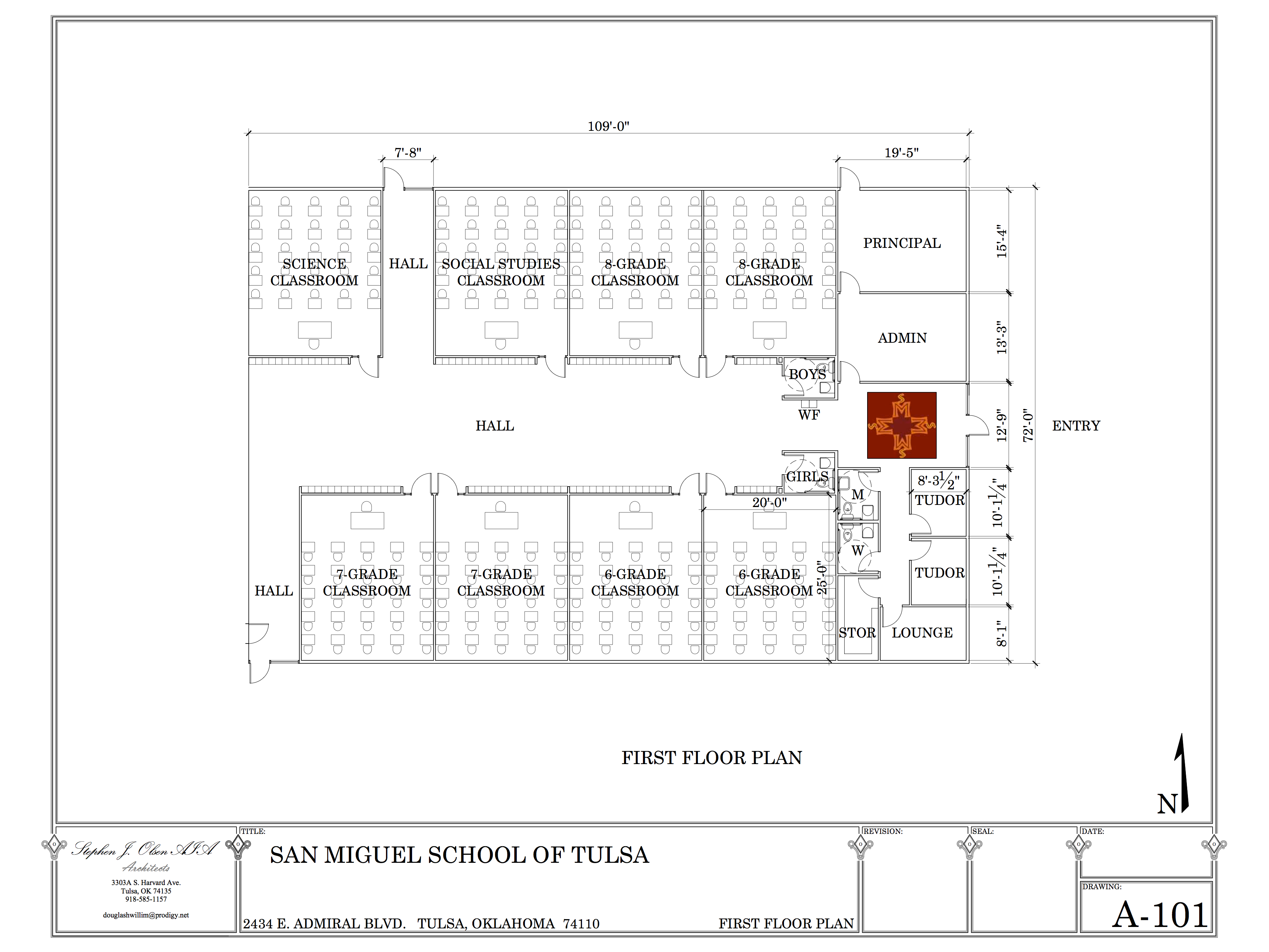 Layout and floorplan for the new building