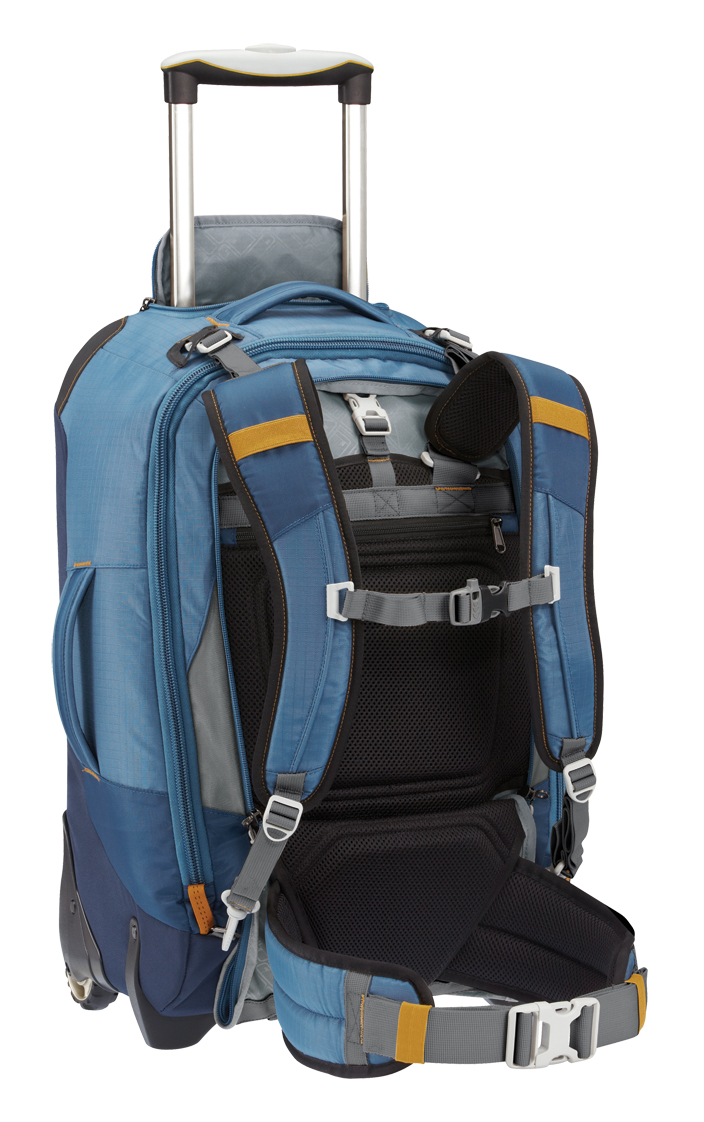 Eagle Creek Flip Switch Convertible backpack with zip away suspension shown
