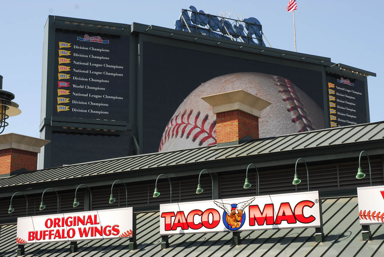 MELT Atlanta, an integrated sports marketing agency, developed the new Taco Mac Family Zone at Turner Field for Taco Mac, the Atlanta Braves, and The Coca-Cola Company. Photo Courtesy: MELT Atlanta