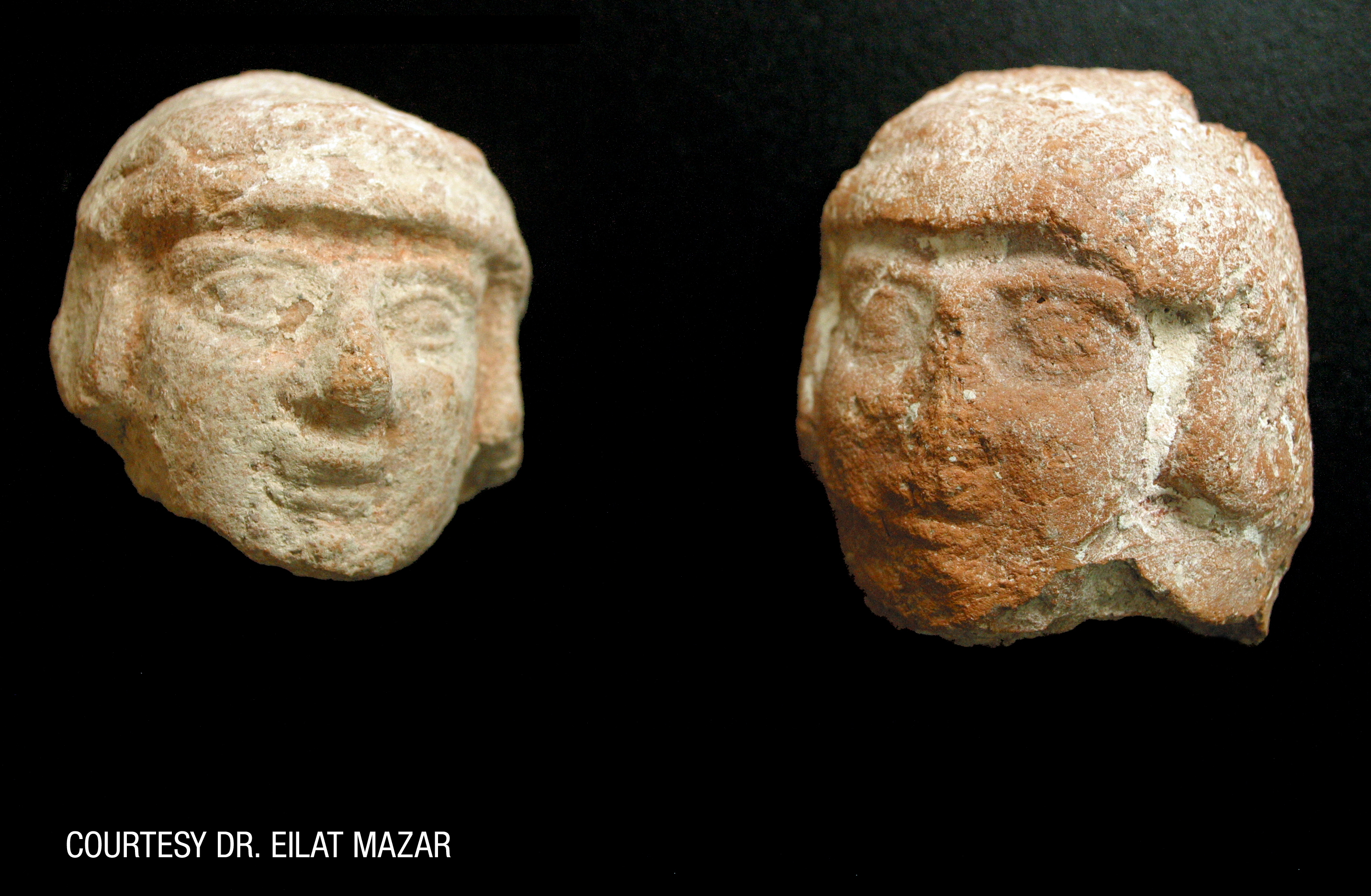 Figurine Heads Found in City of David Excavation
