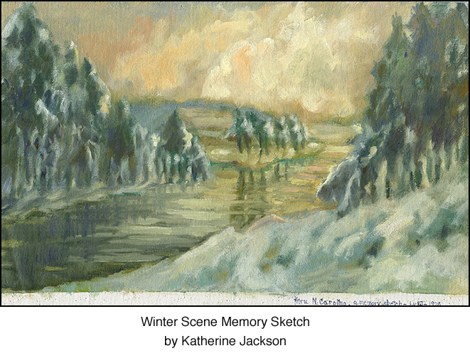This lovely winter scene was painted from memory. Now you can have as a long-lasting, decorative keepsake.